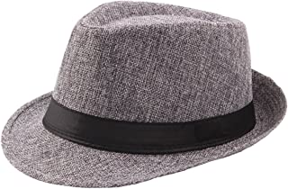 Coucoland Panama Hat Mafia Gangster Men's Fedora Trilby Bogart Hat Men's 1920s Gatsby Costume Accessories
