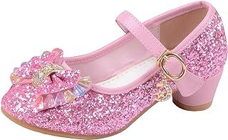 La Vogue Zapatos Zapatilla con Lentejuela para Niña Princesa Fiesta