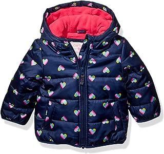 Baby Girls Fleece Lined Puffer Jacket Coat