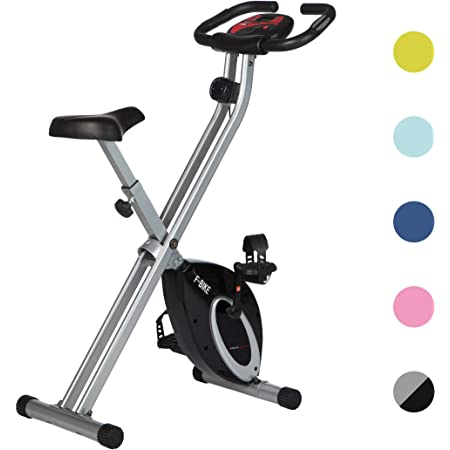 Ultrasport F-Bike Advanced estática LCD Hometrainer, Niveles de Resistencia Ajustables con sensores de Pulso de Mano, Bicicleta Plegable para ...