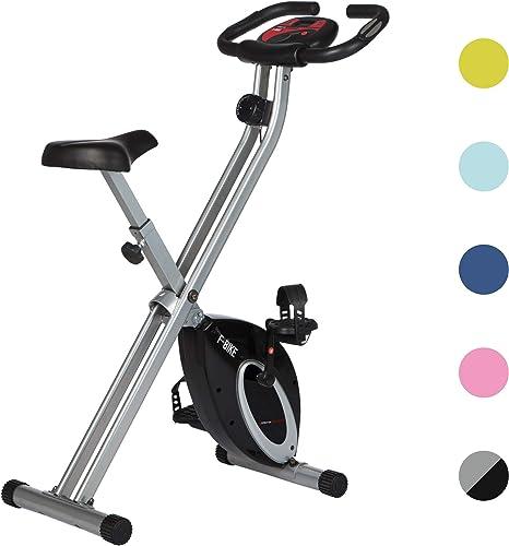 Ultrasport F-Bike Bicicleta estática de Fitness, Aparato doméstico, Plegable con Consola y sensores de Pulso en Manil...