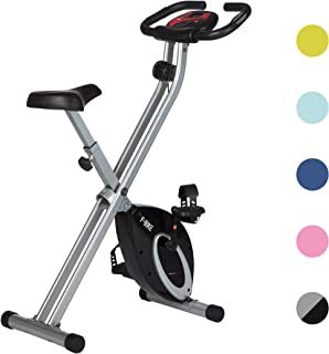 Ultrasport Heimtrainer F-Bike Advanced, LCD-Display, klappbarer Hometrainer, verstellbare Widerstandsstufen, mit Handpulss...