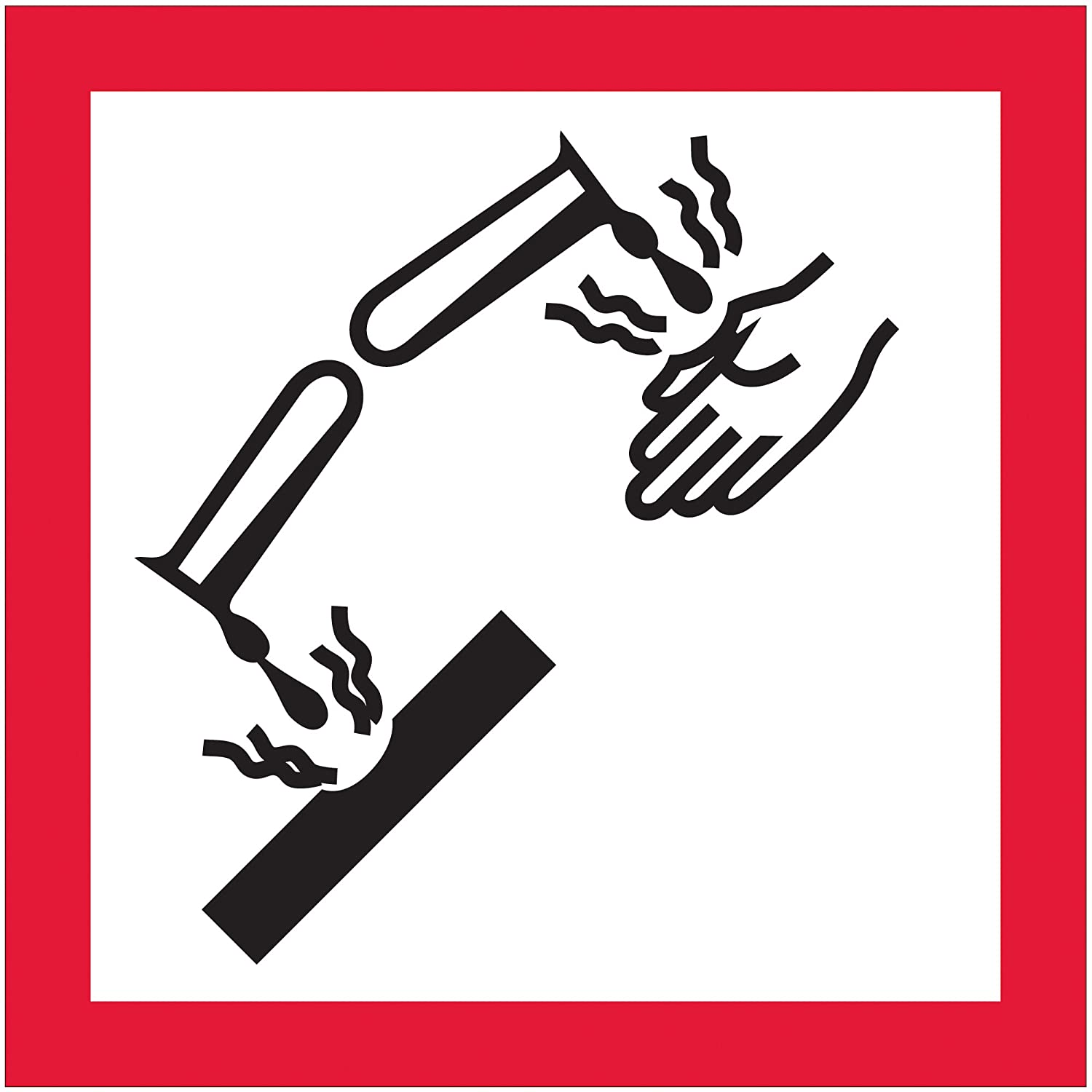 Corrosion Pictogram Labels Stickers 1