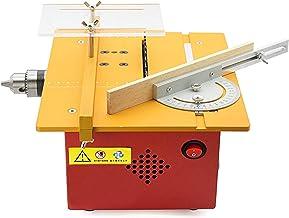 Sierra de mesa portátil de sobremesa, Motosierra multifuncional de carpintería, pequeña máquina de máquinas de corte eléctrica, regulación rápida de la velocidad, ranura para el modelo manual de brico