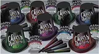 Beistle Cheers to The New Year Assortment for 50 People Size, Multicolored
