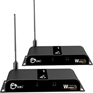SIIG 1080P Wireless HDMI Extender Kit with IR Remote Control - 165 Feet (50m) HDMI 1.3 HDCP 1.2-2.4Ghz Signal - Wall Mount...