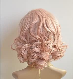 X&Y ANGEL New Kanekalon Short BOB Style Wavy Heat Resistant Kanekalon Hair Wig Pink K066