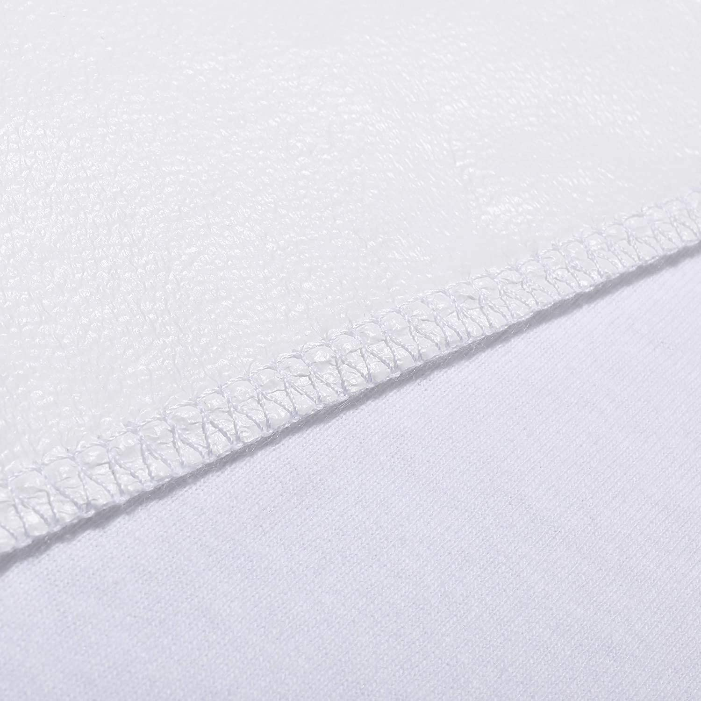 140 x 70, Wei/ß Matratzenschonbezug f/ür Kinder Wasserdichter Matratzenschoner aus Bio-Baumwolle f/ür Babys und Kleinkinder atmungsaktive Matratzenauflage Oeko-TEX 100 Zertifiziert