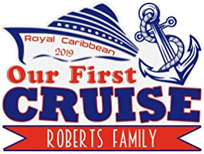 Our First Cruise Magnet, Large Family Name Cruise Door Magnet for Royal Caribbean Cruise, Carnival Cruise, Holland America, Norwegian Cruise Line, Princess Cruises, Celebrity Cruise