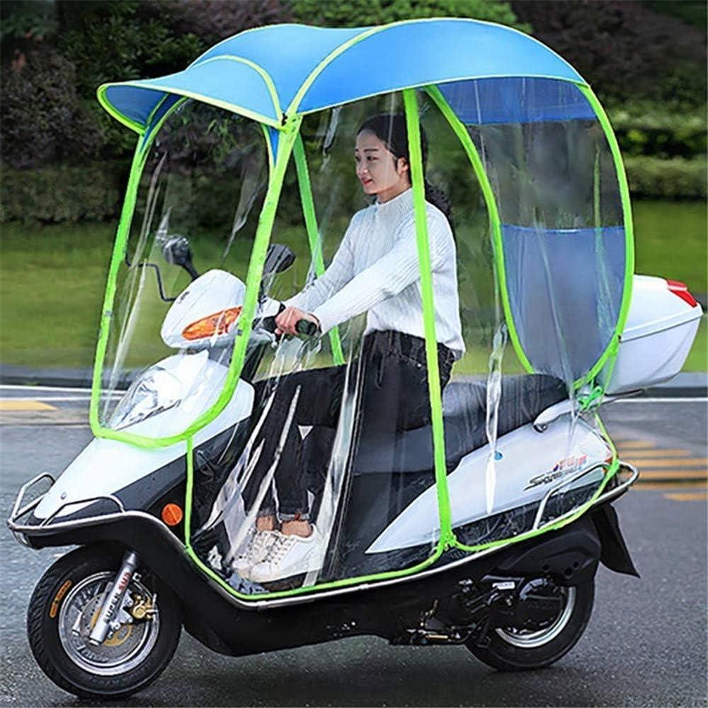 JJYY Paraguas de Scooter eléctrico Totalmente Cerrado Mobility Sun Shade and Rain Cover, Universal Car Motor Scooter Umbrella Mobility Sun Waterproof, A, Sin Espejo retrovisor