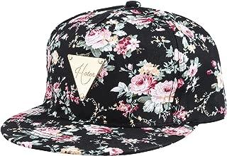 Fashion Floral Snapback Hip-Hop Hat Flat Peaked Baseball Cap for Four Seasons