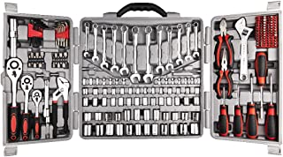 Decare Tool Set 205 Pcs, Household Hand Tool Kit, Auto Repair Tool Set, with Socket Set in Portable Toolbox