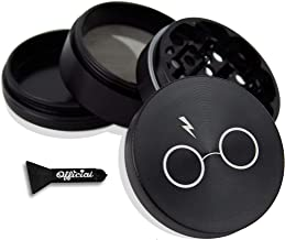 Official Potter Herb Grinder - Non Stick Multi Hole Design - 4 Piece Grinder For Herb & Spice With BONUS Scraper Tool - Potter Gifts - 2.3 Inches