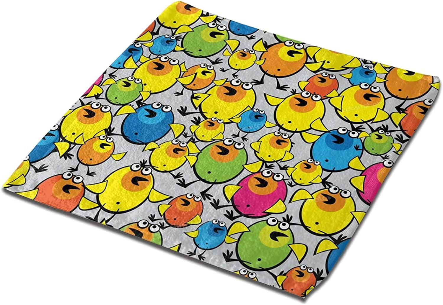 Jsragt Colorful Chicken A surprise price is realized Towel 100% Super outlet Face A Polyester