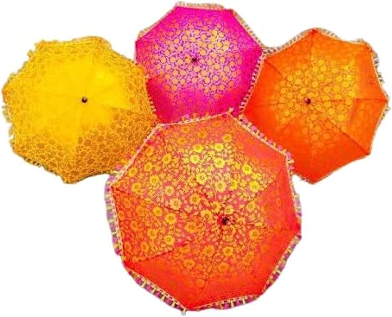 Safety and trust LAXMI CRAFT Indian Vintage Umbrella Decorati Parasol Max 76% OFF Traditional