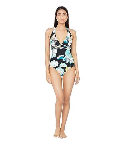 Trina Turk Sintra Flora Halter Tankini Swimsuit Top (Multi) Women