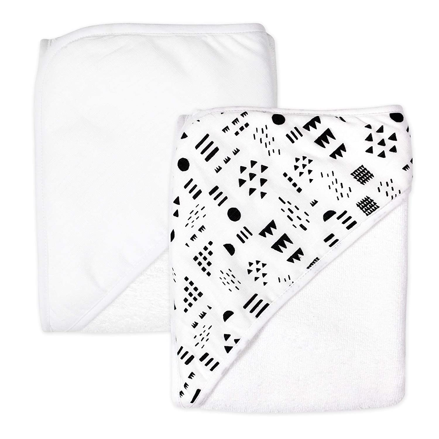 HonestBaby 2-Pack Organic Cotton Hooded We OFFer at cheap prices Pattern Towels On Play OFFer