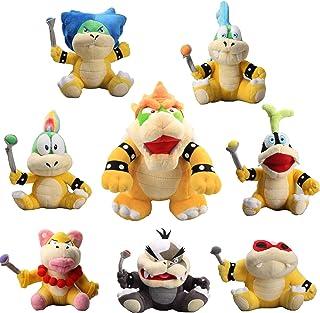 uiuoutoy Super Mario 10'' King Bowser & Koopalings Larry Iggy Lemmy Roy Ludwig Wendy Morton Koopa Plush Set of 8 pcs