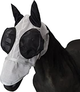 Leberna Mesh Fly Mask with Ears Nose UV Protection Full Face for Horse/Cob