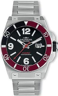 Mondia swiss Master Mens Analog Swiss Automatic Watch with Stainless Steel Bracelet MS 200-1BK-BM