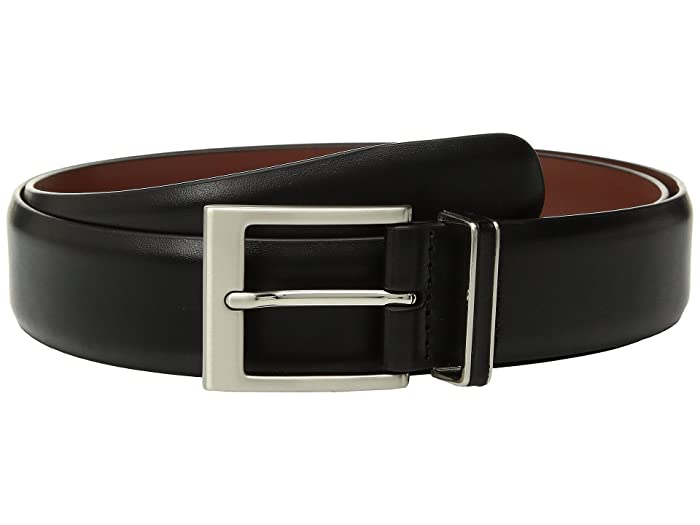 Perry Ellis Portfolio  Smooth Nappa Leather Belt (Black) Mens Belts