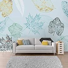 XIAOHUKK Autoadhesivo 3d papel tapiz mural moderno abstracto hoja arte pared calcomanía arte mural calcomanía de pared sal...
