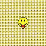 Smiley Face Tabs Design Psychedelic Blotter Art Print Perforated Sheet, Acid Free LSD Art Paper 30x30, 900 tabs, 7.5 inch, in Clear Protective Sleeve