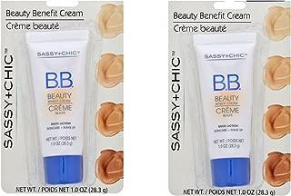 Sassy and Chic B.B. Cream, Multi action Skincare plus Makeup (dark 1) TWO 1 oz TUBES
