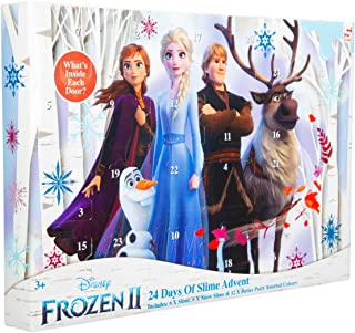 Sambro DFR2-3643 Slime Disney Frozen 2 Advent Calendar Snow Slime and Butter Clay for Ages 3 and Above Multi-Coloured