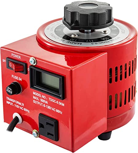 popular Mophorn 500VA Variable Transformer 110V lowest 60Hz Input Voltage Digital Display 0-130V Output Automatic Voltage Regulator for US discount Plug… online sale