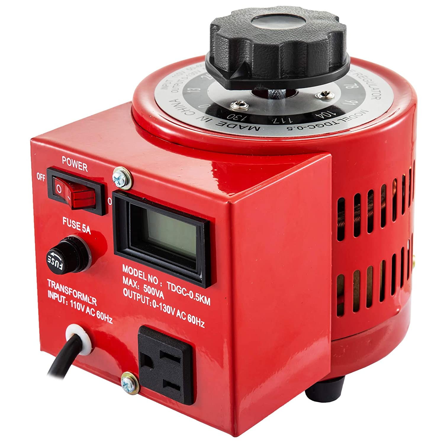 New color Mophorn 500VA Variable Transformer 110V New product type 60Hz Voltage Digit Input