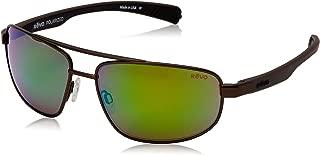 Revo Wraith RE 1018 Polarized Rectangular Sunglasses, Brown Green Water, 61 mm