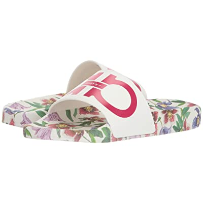 Salvatore Ferragamo PVC Pool Slide (Multi Floral Boutique/Begonia) Women