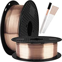 TTYT3D Silk PLA Shine Chocolate Gold 3D Printer Filament - 1kg 2.2lbs Spool 1.75mm 3D Printing Material with one Bottle Extra Gift