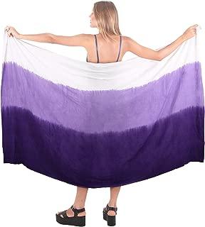 Women's Hawaii Sarongs for Women Plus Size Beach Wrap Hand Tie Dye