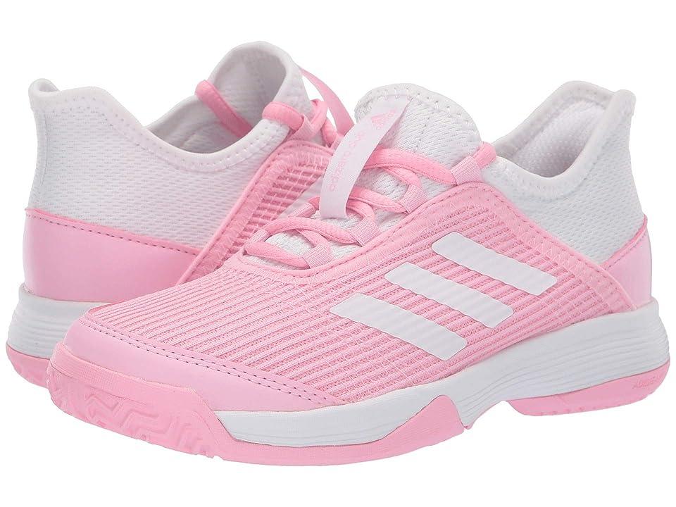 adidas Kids Adizero Club Tennis (Little Kid/Big Kid) (True Pink/White/White) Girl
