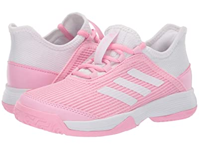 adidas Kids Adizero Club Tennis (Little Kid/Big Kid) (True Pink/White/White) Girl