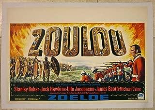 ZULU - ORIGINAL 1964 BELGIAN LB POSTER - AMAZING TRIBAL ADVENTURE THRILLER