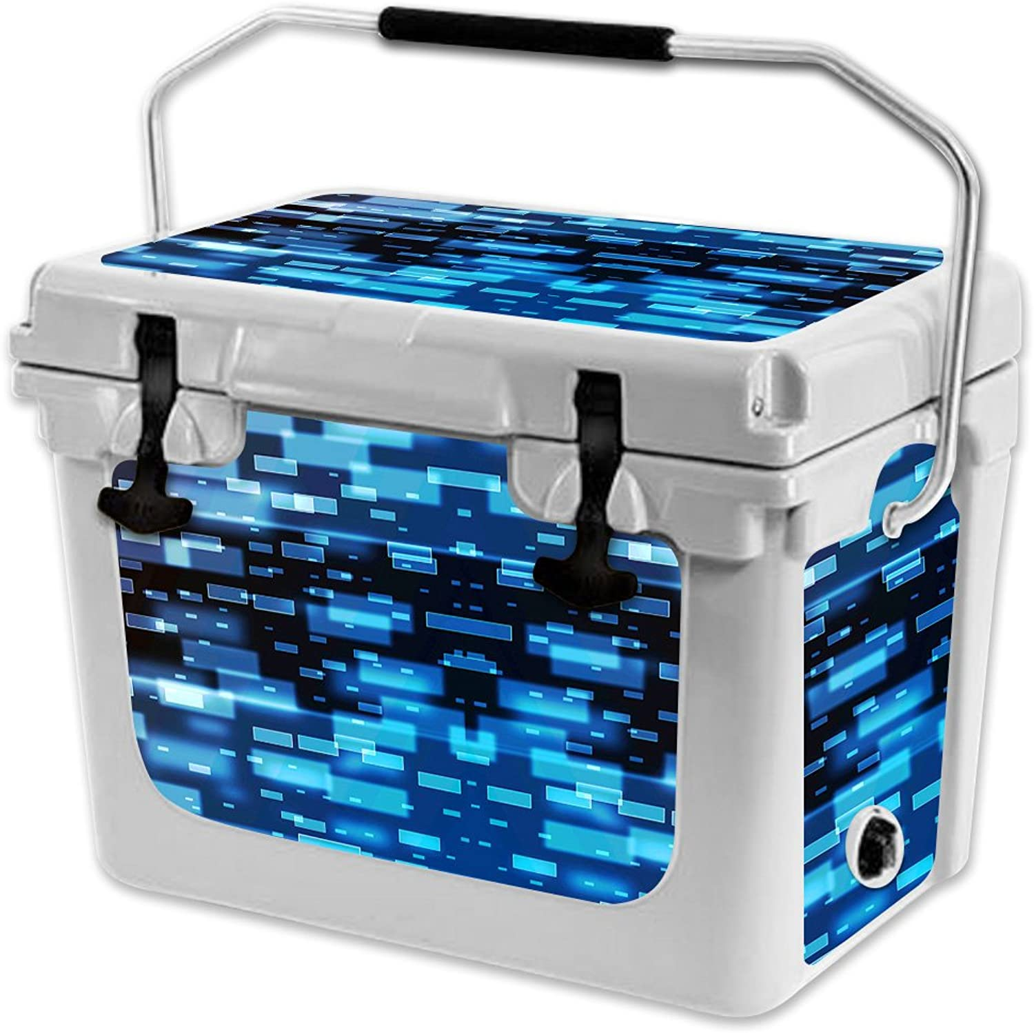 MightySkins Skin Compatible with RTIC 20 Cooler (2017 Model)  Space Blocks   Predective, Durable, and Unique Vinyl Decal wrap Cover   Easy to Apply, Remove, and Change Styles   Made in The USA