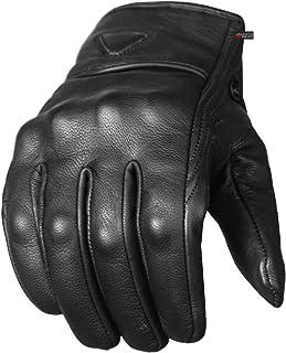 Men's Premium Leather Street Motorcycle Protective...