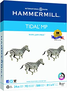 Hammermill Printer Paper, Tidal 24 lb Copy Paper, 8.5 x 11-1 Ream (500 Sheets) - 92 Bright, Made in the USA