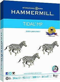 Hammermill Paper, Tidal Copy Paper, 8.5 x 11 Paper, Letter Size, 24lb Paper, 92 Bright, 1 Ream / 500 Sheets (162300R) Acid Free Paper