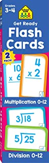School Zone - Get Ready Flash Cards Multiplication & Division 2 Pack - Ages 8 to 9, 3rd Grade, 4th Grade, Multiplication 0-12, Division 0-12, Elementary Math, and More