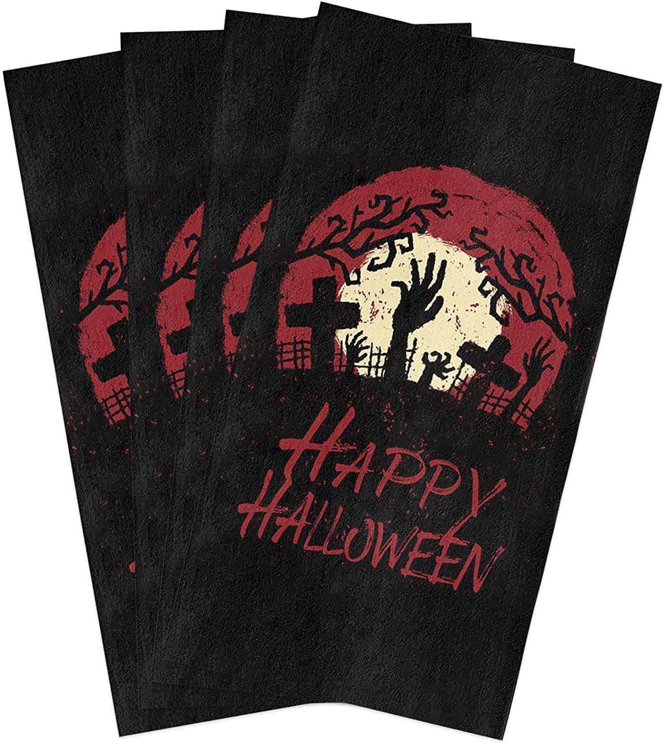 Halloween 2021 model Kitchen Towels Save money Set Zombie Hang Out Dish Grave Towel Ni