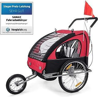 Remorque de v/élo pour enfants Chariot de jogging pour enfants 2 en 1 avec remorque de v/élo pour enfants rotative /à 360 /°,Multicolored