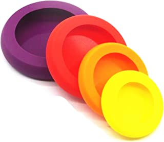 4 Pics Kitchen Flexible Silicone Vegetable Fruit Savers Storage Cover Containers Set Reusable