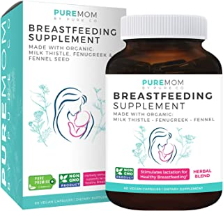 Organic Breastfeeding Supplement - Increase Milk Supply with Herbal Lactation Support - Aid for Mothers - Lactation Supple...