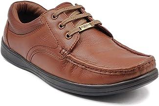 egoss Men Leather Formal Casual Lace up Shoes for Men (EG 192026)