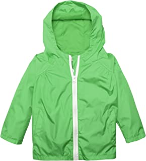 Baby Girl Boys Waterproof Floral Hooded Rain Jacket Outwear Raincoat with Hoodies