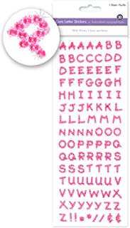 Pink Alphabet Sticker Letters Adhesive Letters Small Letter Stickers Glitter Letters Stickers Alphabet Letter Stickers Glitter Alphabet Stickers Glitter Sticker Letters 1/2